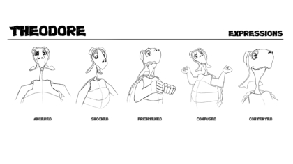 theodore – expression sheet